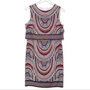 NWT Chico's Geometric Print Peplum Dress Size 4